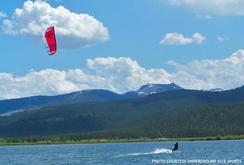 Summer Kite Boarding on Georgetown Lake