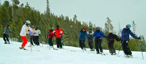 Ski class at Discovery Ski
